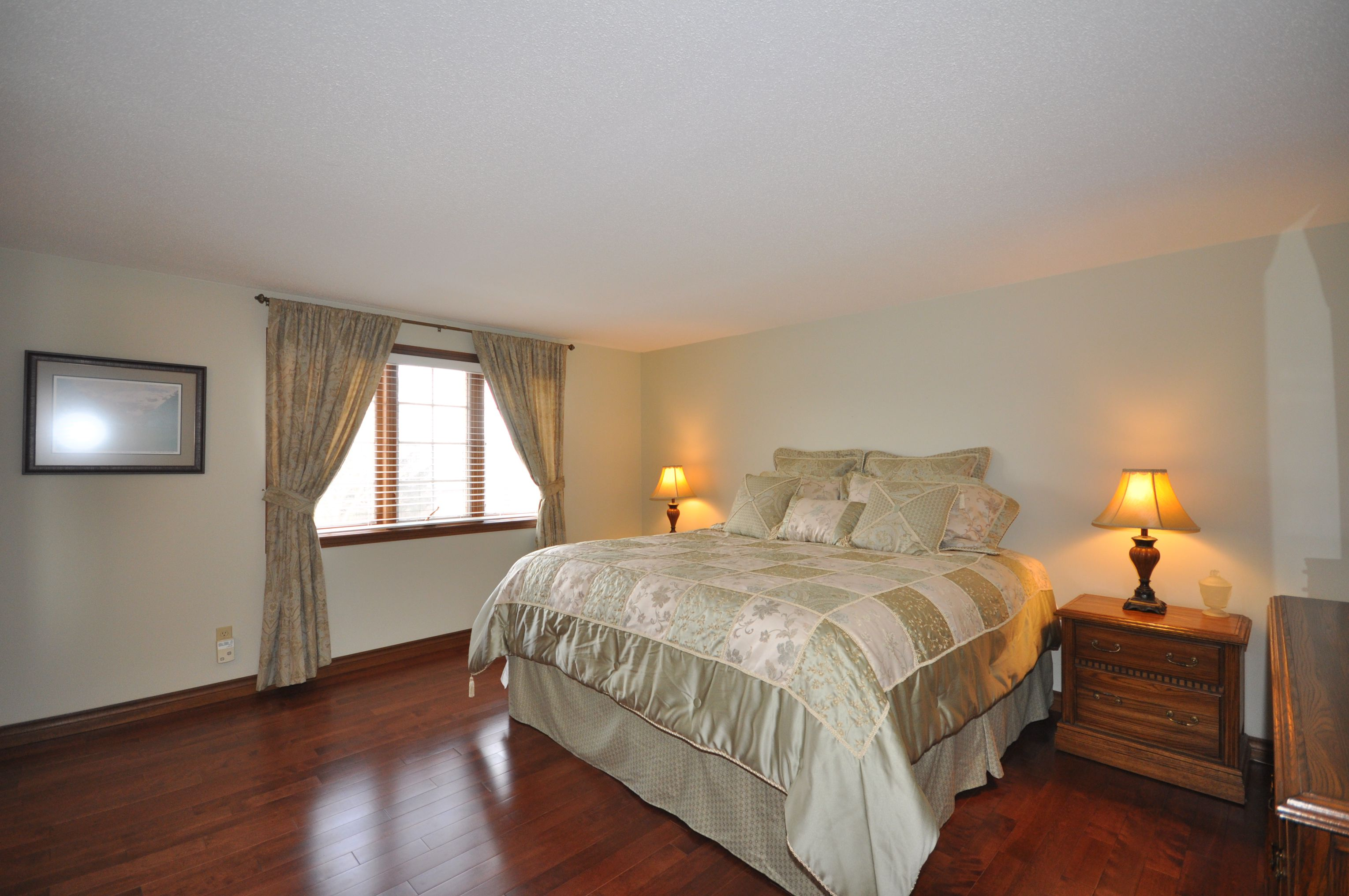 Master Bedroom with large sunny window and walk in closet