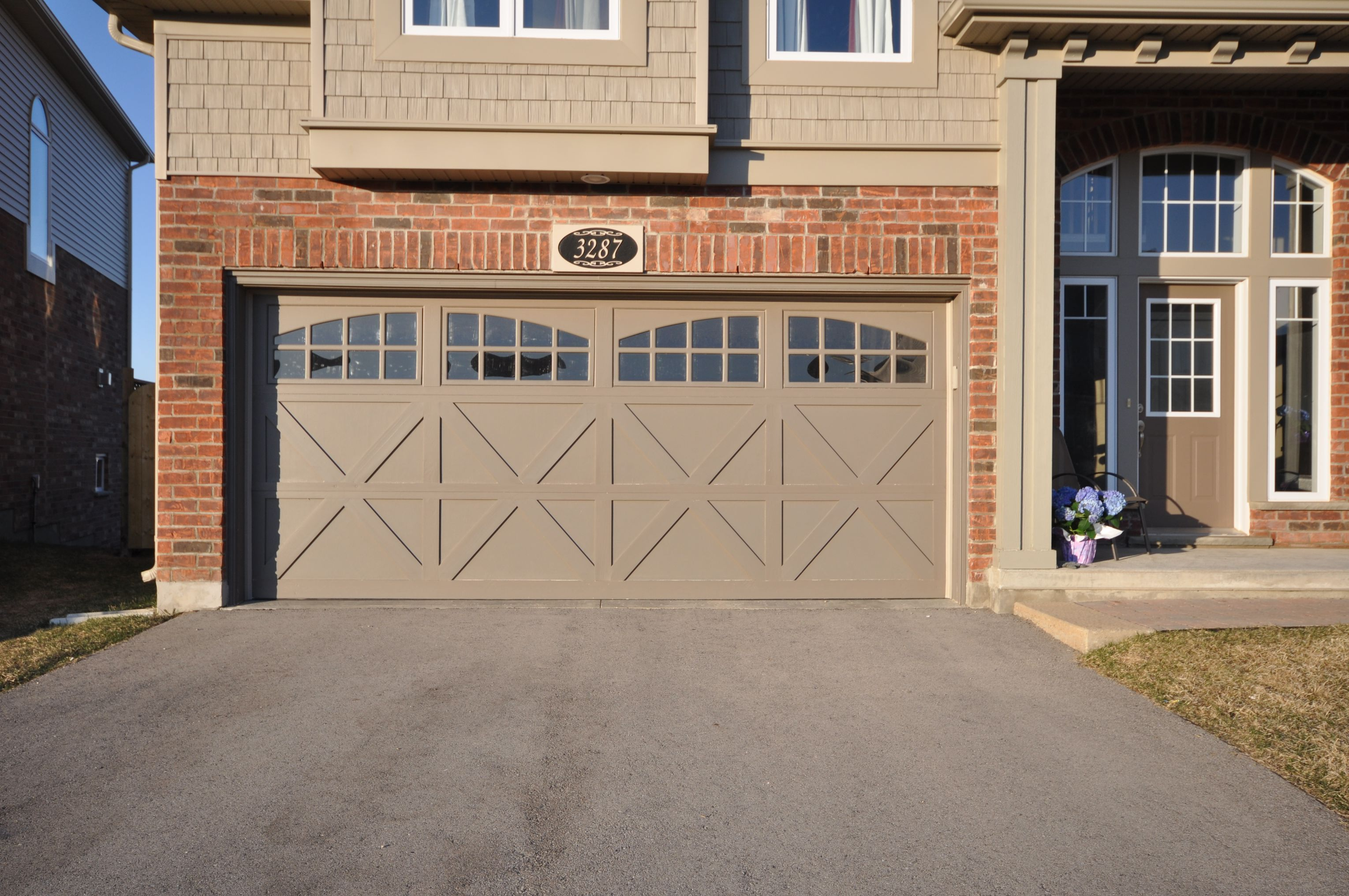 Upgraded garage doors