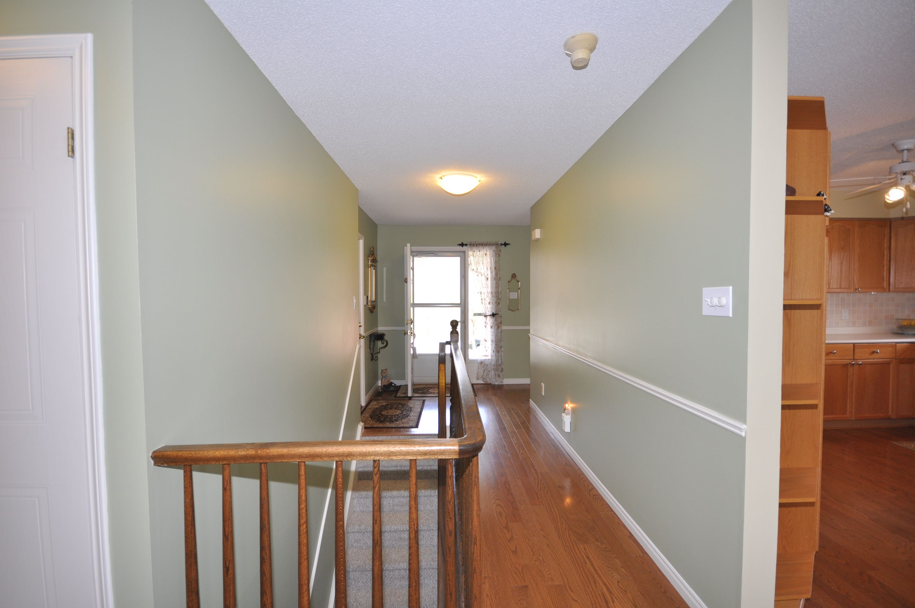 Gleaming hardwood floors through most of main floor