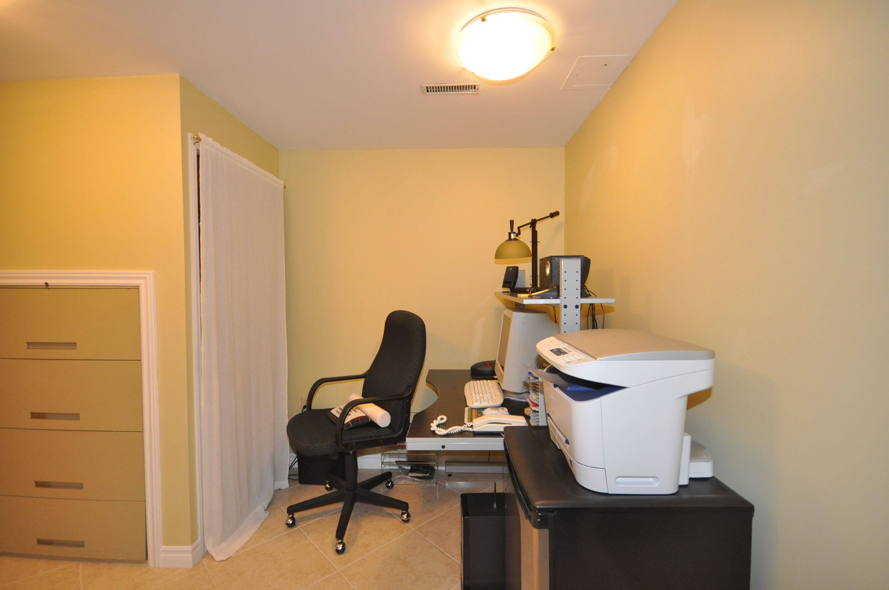 The perfect office area with built in filing cabinet