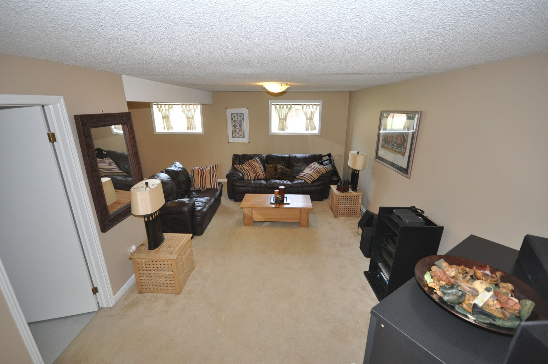 Lots of room for entertaining in the full sized family room