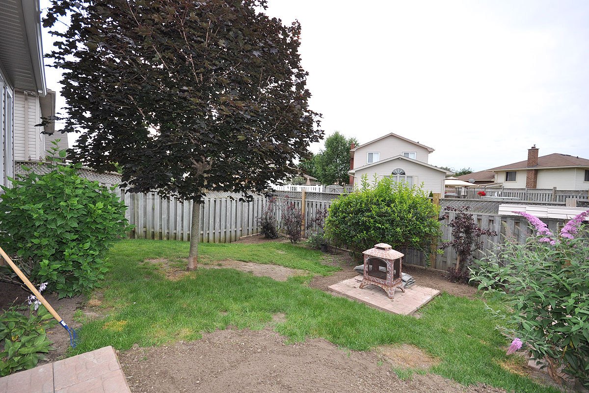 Privacy fenced backyard