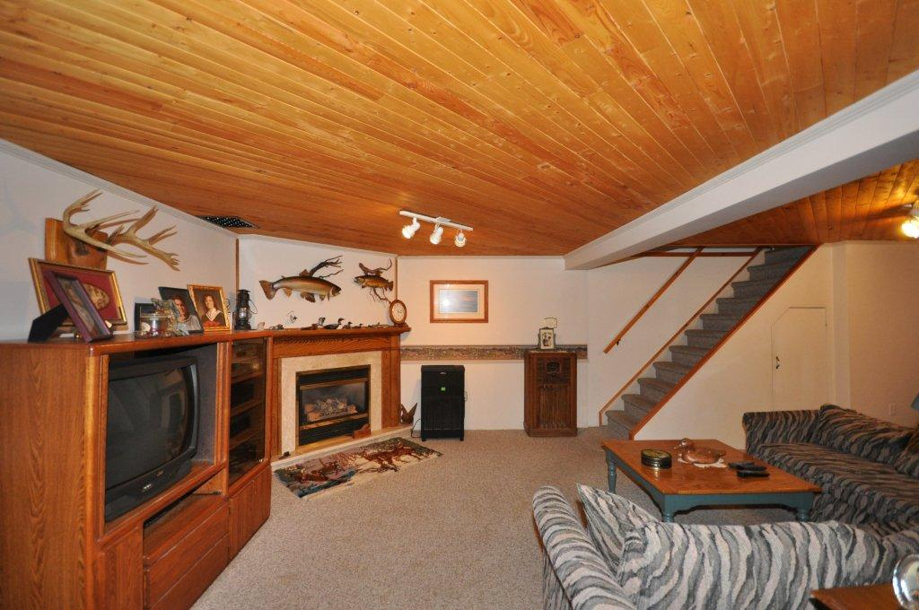 Lower Level with corner gas fireplace