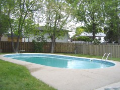 Everyone will love the large 18 x 36 oval pool!!