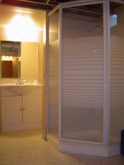 Lower level also has a new huge 3 piece bath with room for linens and storage too!