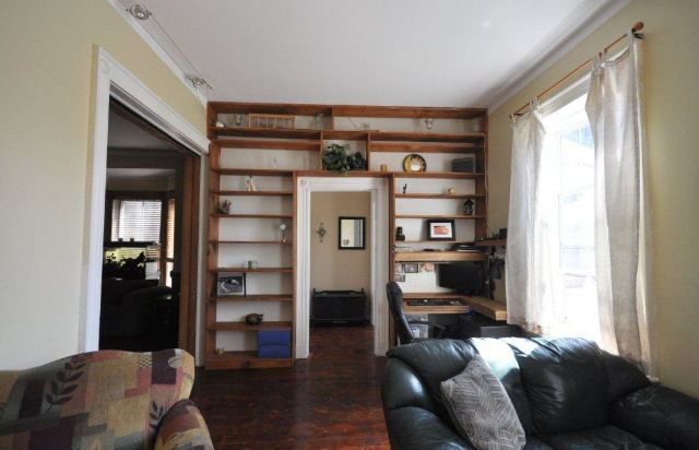 Living Room with Built in Bookshelves