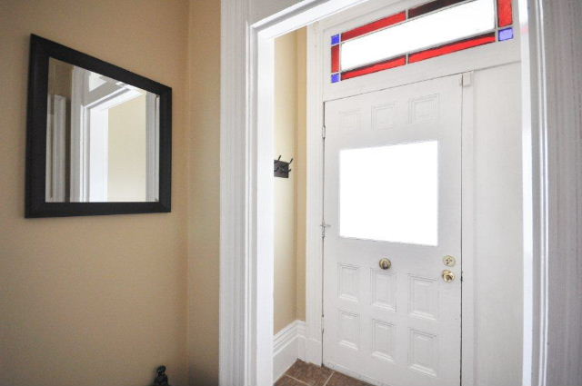 Double Foyer with Stained Glass