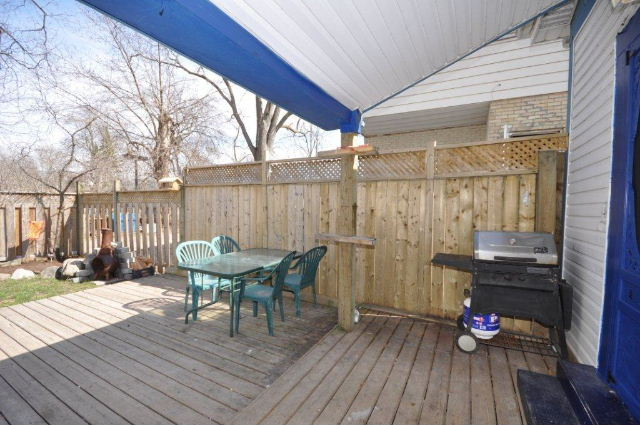 Covered Rear Porch & Deck