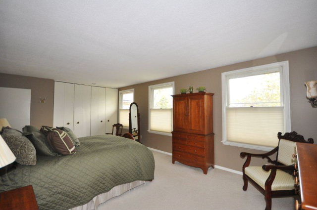 Master Bedroom has lots of light and closet space