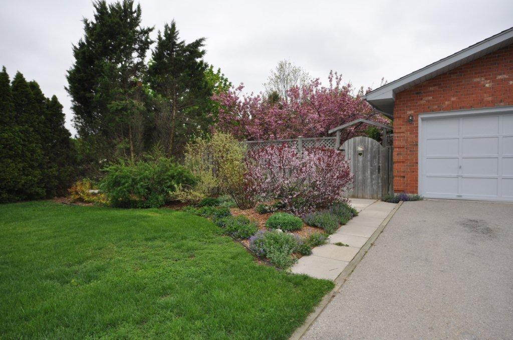 Amazing perennial filled gardens, trees & shrubs surround this backsplit
