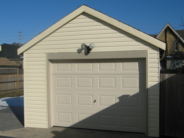 Garage with New Door