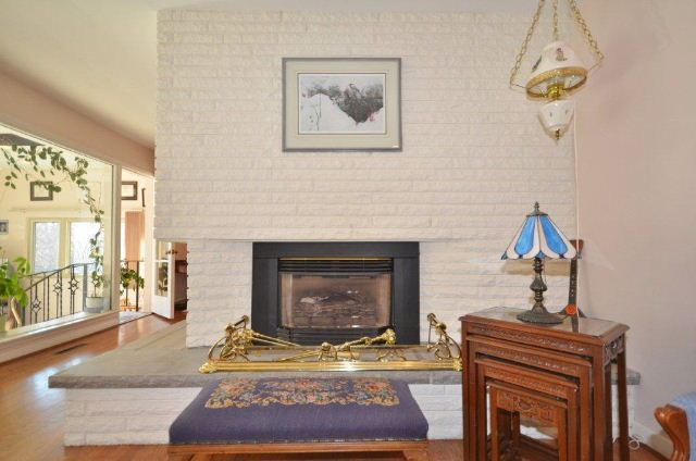 Close up of Gas Fireplace in the Formal Living Room