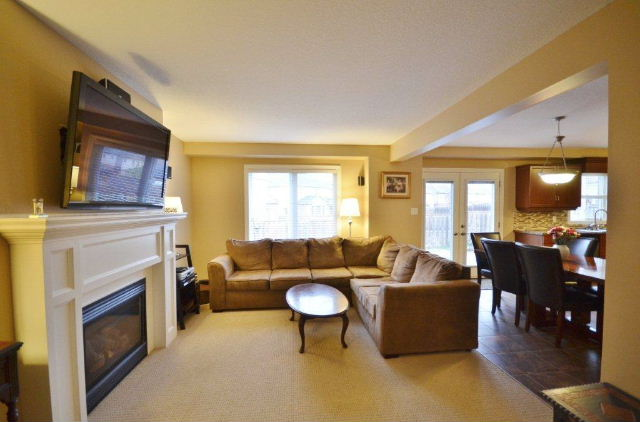 Large Family Room with Cozy Gas Fireplace