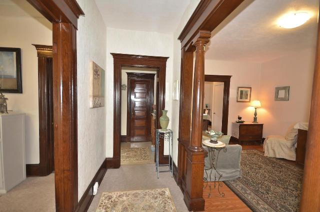 Pillared Foyer to Living Room