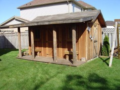 Cabin style shed with a 60 amp service for future pool