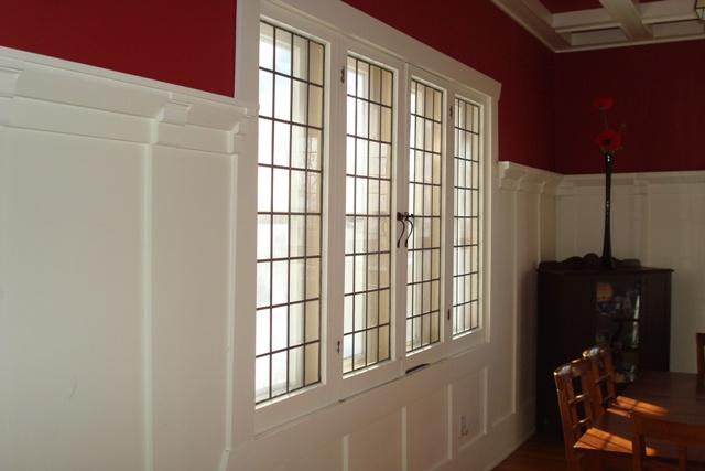 Leaded Windows In Dining Room