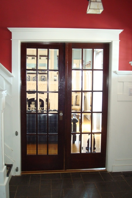 French Doors to Living Room
