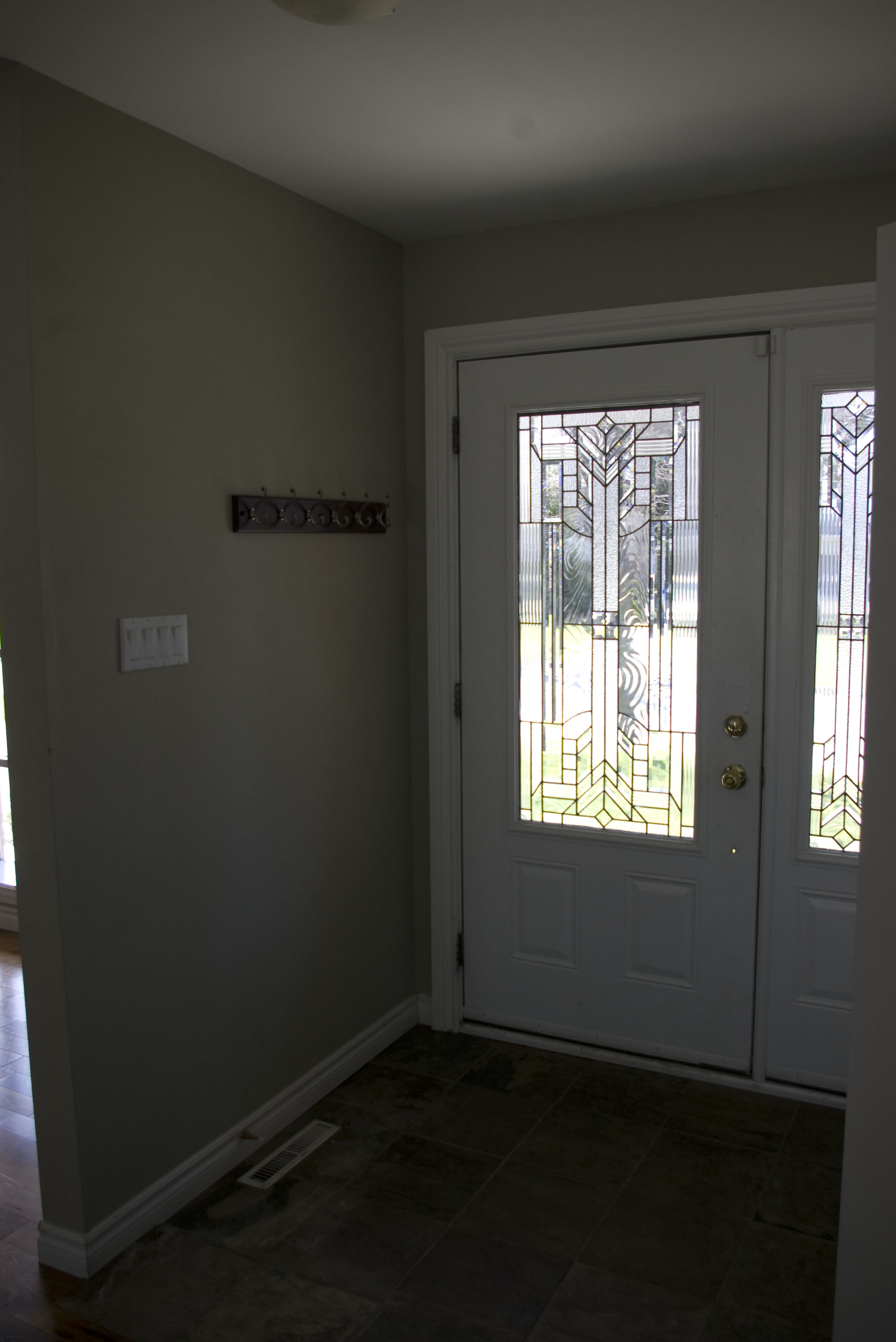 Gorgeous Front Door Set and Newer Flooring in Foyer