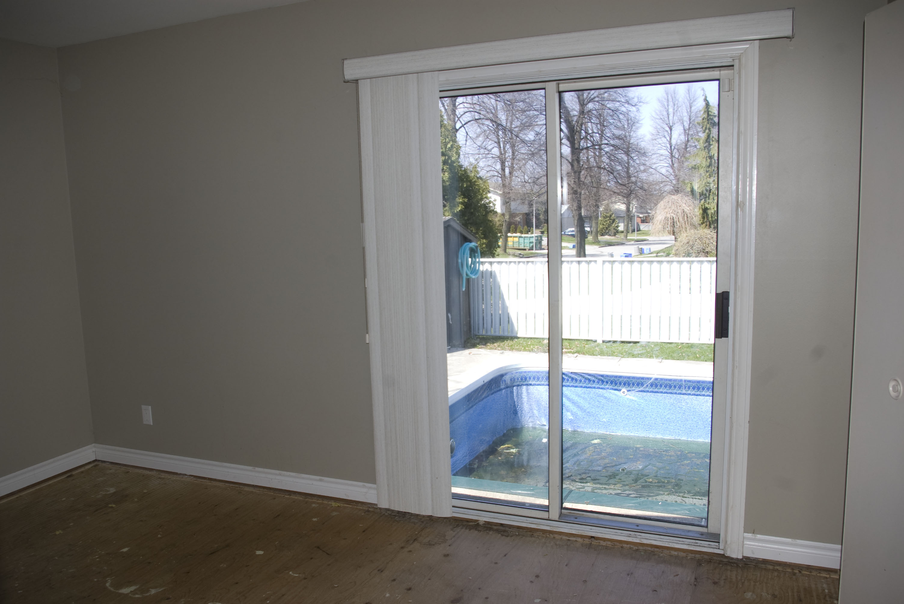 Patios Doors off of 3rd Bedroom