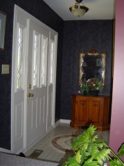 Front foyer with newer door with sidelites