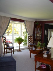 Large bright sunny bay window in the living room