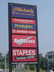 One stop shopping at the plaza on the Corner of Richmond & Fanshawe