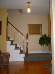 Up the wide staircase are 4 good sized bedrooms and a large family bath