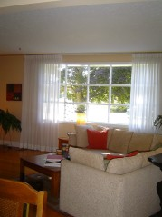 Feel the warmth of the sun from the large bay window in the living room