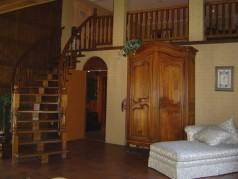 Beautiful winding staircase to 2nd floor Games/Rec area off Hearth Room