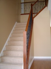 Beautiful staircase leading to the second storey.