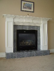 Lovely gas fireplace in Family Room