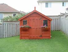Attractive storage shed for all your gardening needs