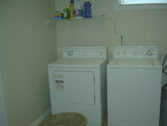 Finished laundry room in lower level