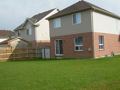 Super sized backyard with room at side yard for storage, dog run or boys toys!