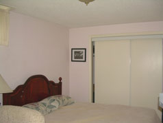 One of two bedroom in lower level