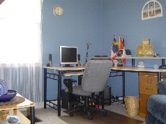 Main floor bedroom is currenlty being used as a office
