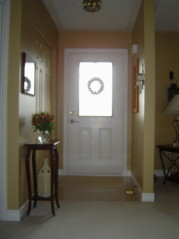 Sunny front foyer