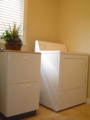 Convenient main floor laundry room