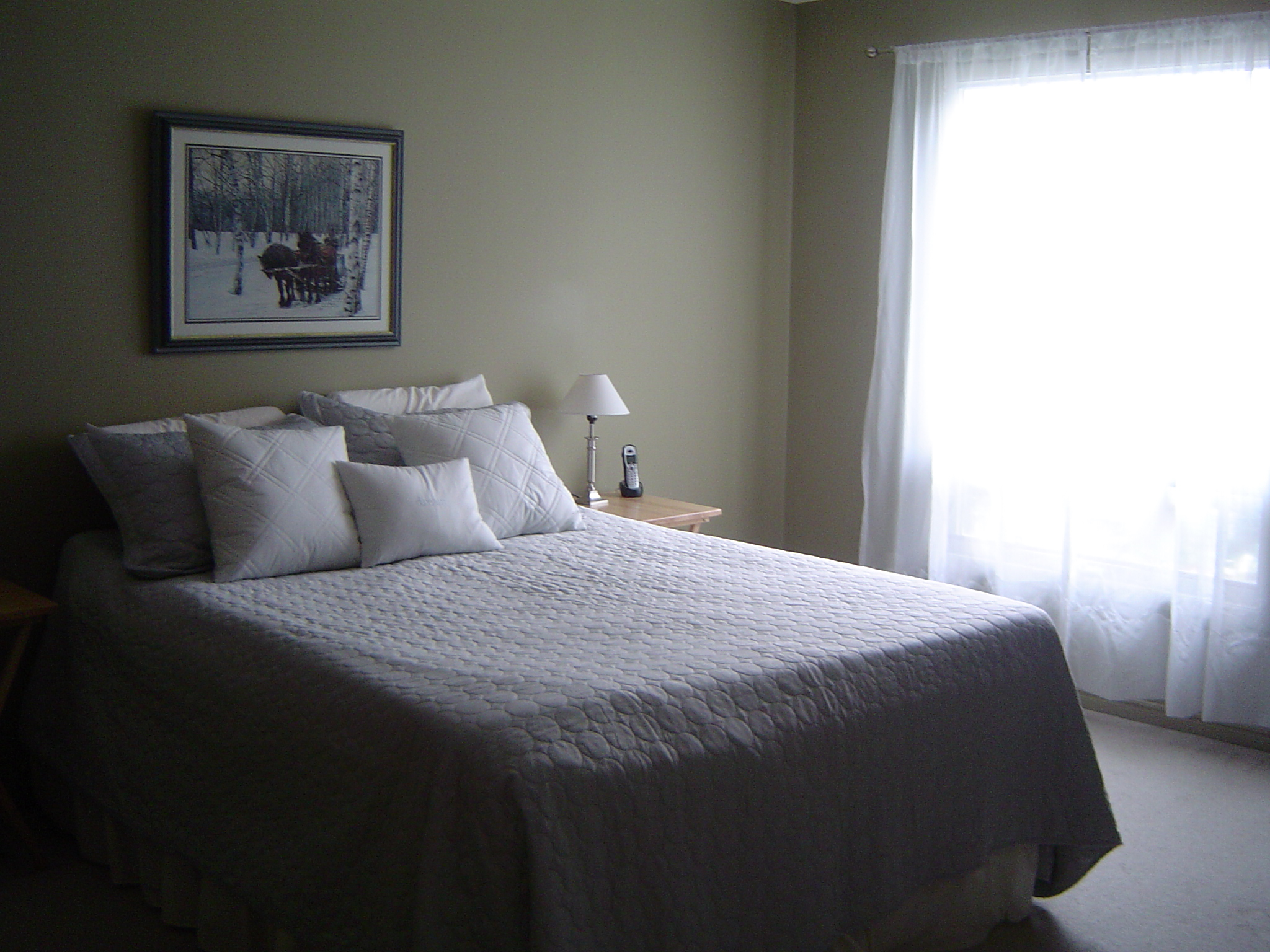 Upstairs are 3 nice sized bedrooms, the master is large enough for your king size bed